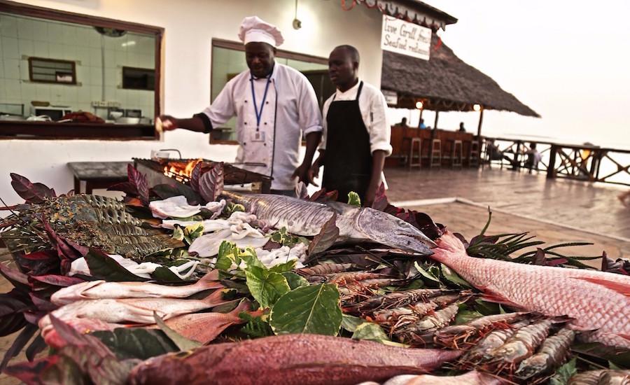 Zanzibar tanzania rejse Amaan Bungalows dining