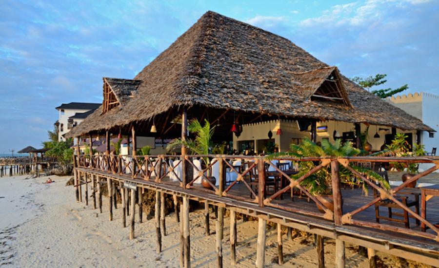 Zanzibar tanzania rejse Amaan Bungalows strand