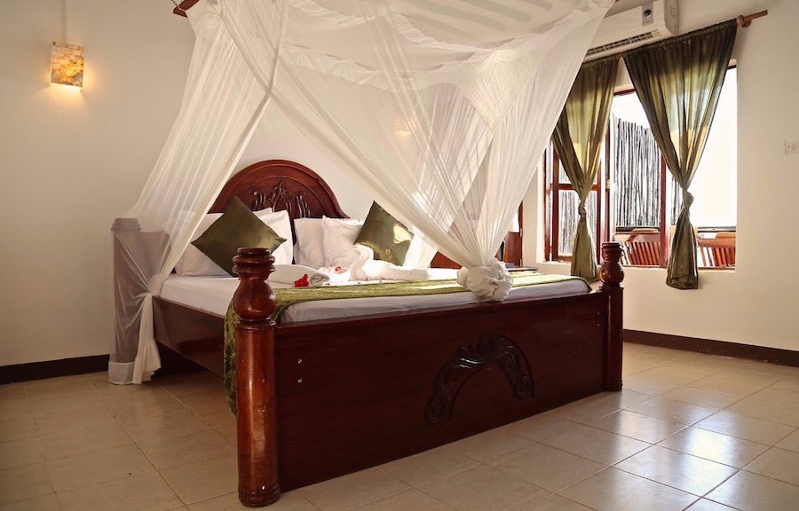 Zanzibar tanzania rejse Amaan Bungalows værelse