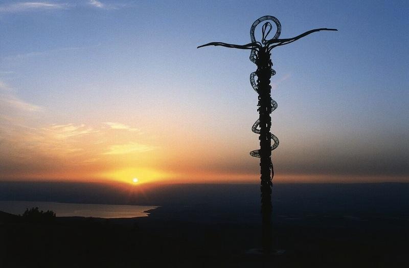 Mount Nebo skulpturelle kors