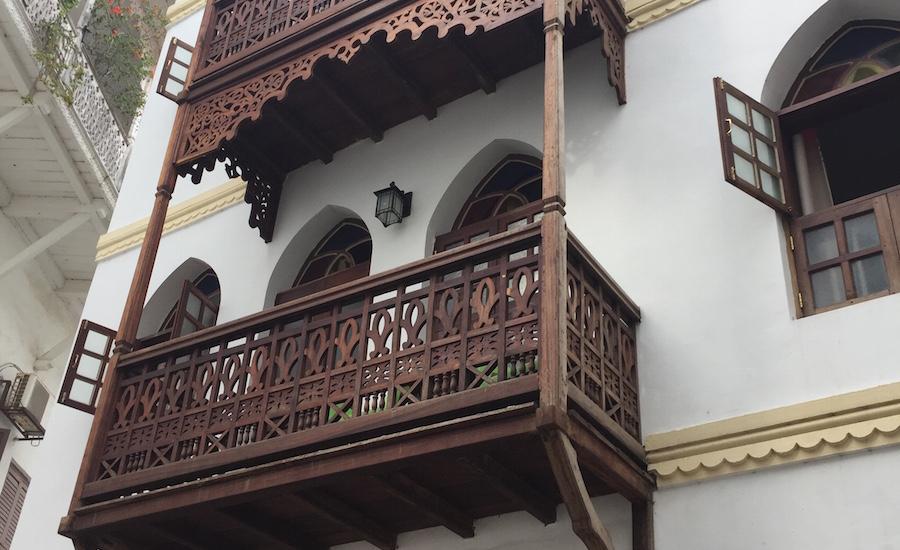 Tanzania Zanzibar stone town balkon