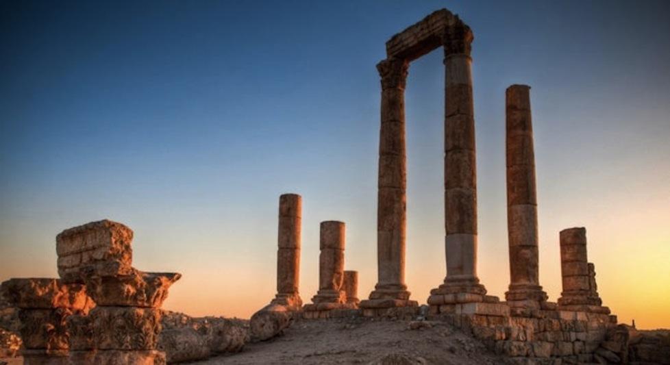 Amman citadel hill pillars