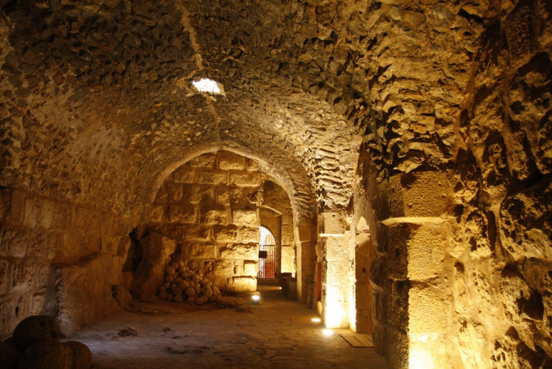 Ajloun Castle inside
