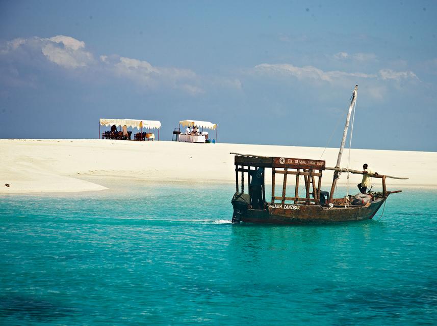 Zanzibar Tanzania Sandbank Picnic udflugter med frokost book hos younes rejser