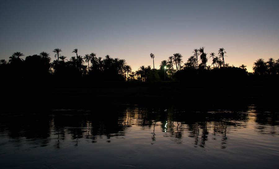 Rejser til Egypten Nile sunset