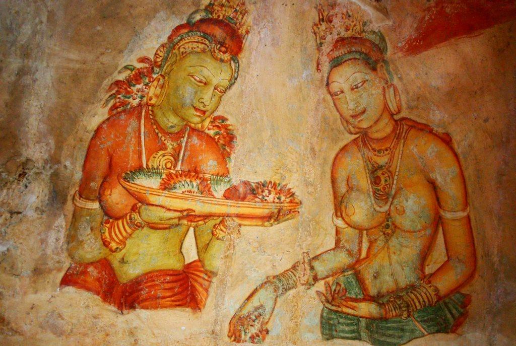Rejse til Sri Lanka Sigiriya Paintings