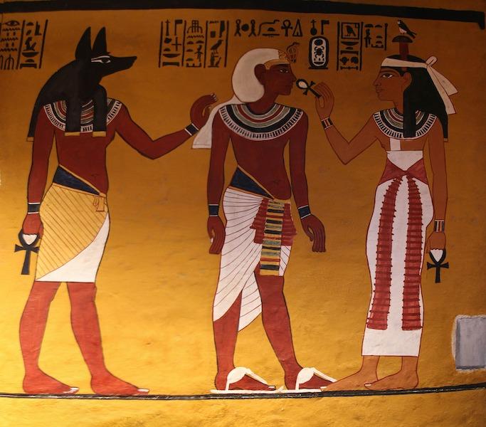 Egypten i skoleferien - vægmaleri farao