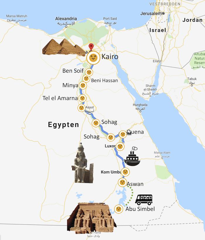 Kort over langtkrydstogt_Younes Rejser